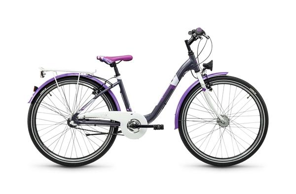 S´COOL chiX 26 Stahl 3-Gang darkgrey/violet