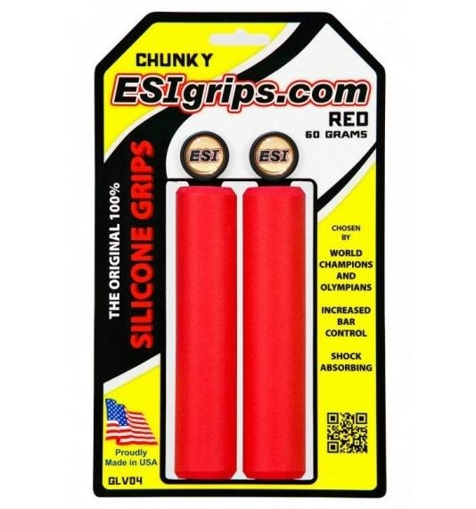 ESI Chunky red Grips Silicon