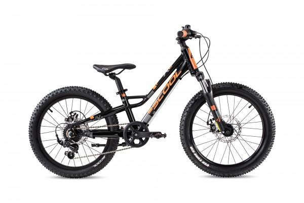S´COOL faXe 20 race Aluminium 7-Gang black/orange matt