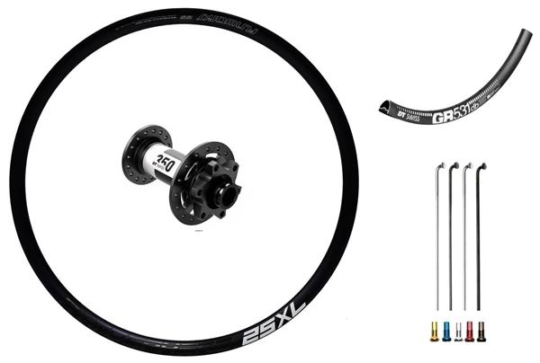 "DT Swiss 350 Disc IS Custom Front Wheel Road/Gravelbike 27,5"""