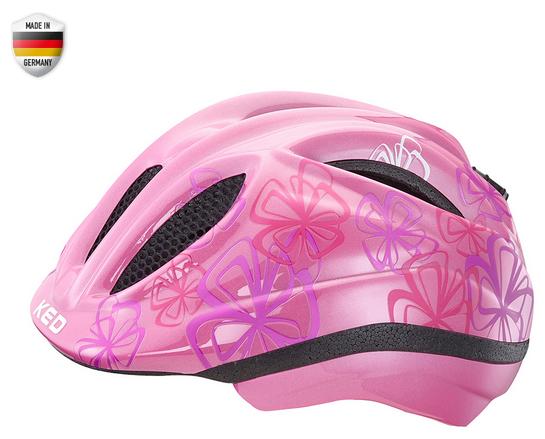 KED Meggy Trend Kids Helmet violet flower