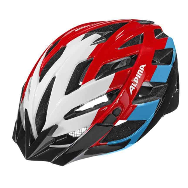 Alpina Panoma Helm white-red blue