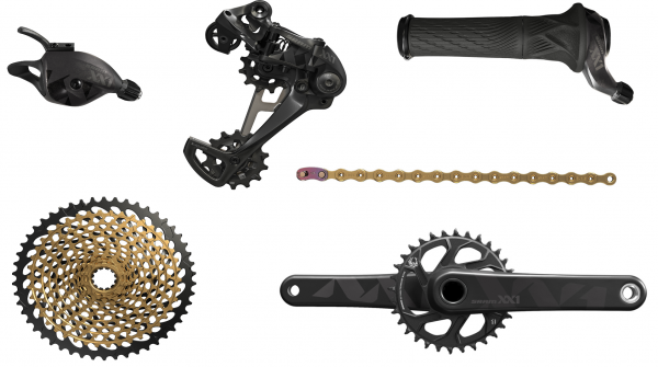 SRAM Groupset XX1 Eagle - DUB 1x12-speed - black