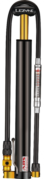 Lezyne mini pump Micro Floor Drive HVG Pumpe / MTB (with gauge) black glossy