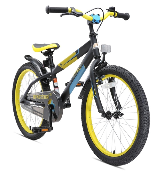 Bikestar Premium Kids Bike Mountain 20'' black yellow