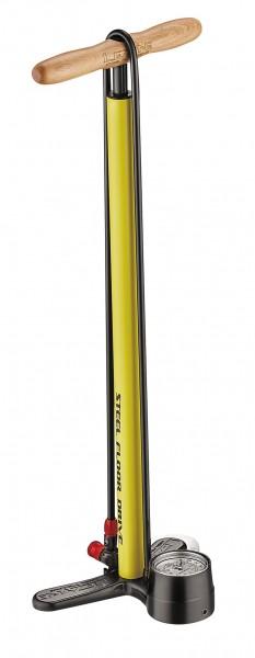Lezyne Steel Floor Drive stand air pump yellow