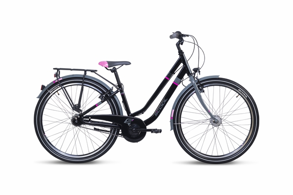 S´COOL chiX twin 26 alloy 7-speed black/pink