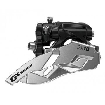 SRAM GX front derailleur 2x10-fach - Low Clamp - 22/34 & 24/38T - Dual Pull