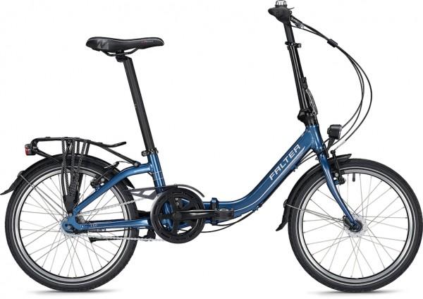 "Falter Folding Bike F 5.0 Comfort 20 ""Blue Glossy Folder"