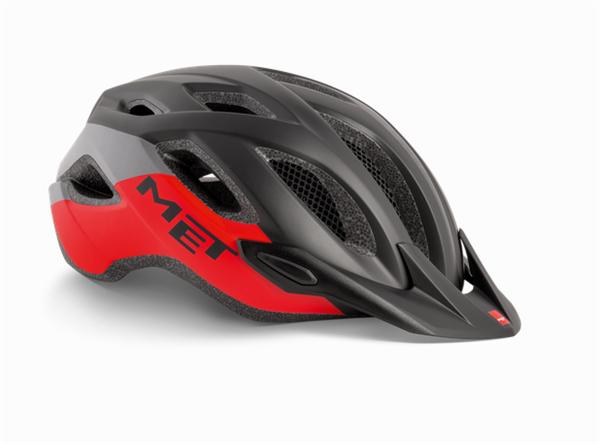 Met Crossover MTB Helmet Black/Red