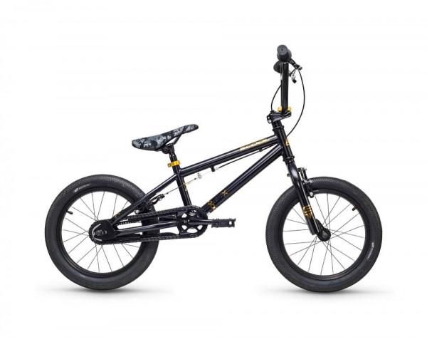 S´COOL XtriX mini BMX 16'' steel 1-speed black/ gold matt