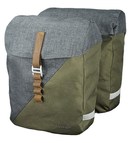 Racktime Doppelpacktasche Heda peat bog green/dust grey