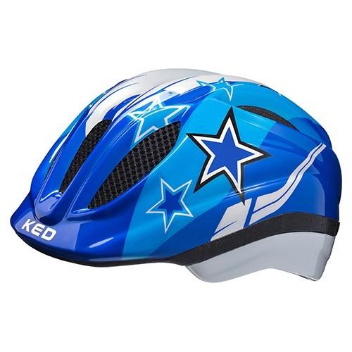 KED Meggy II Kids Helmet blue stars