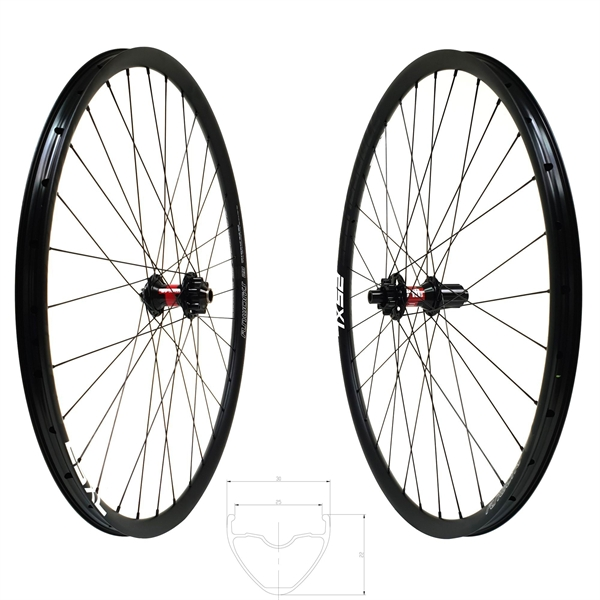 DT Swiss 240s Disc IS Atmosphere 25 XL Comp Race Wheelset 29er 1640g