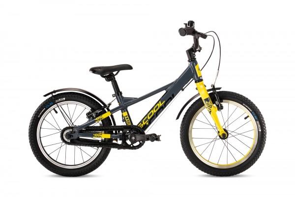 S´COOL XXlite 16 Evo Aluminium 1-Gang mit Freilauf darkgrey/yellow matt