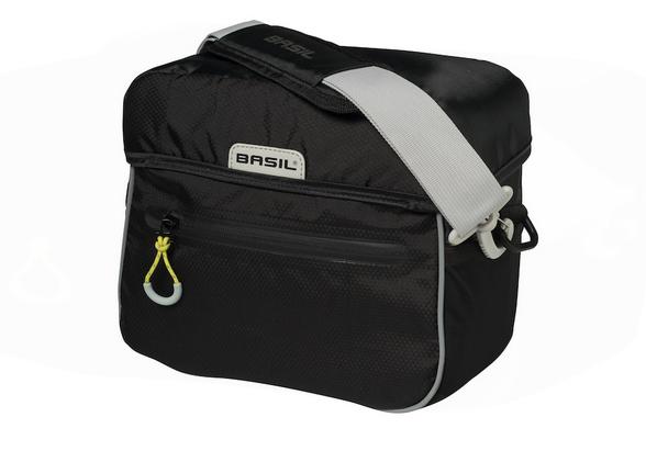 Basil Miles Handlebar bag black lime