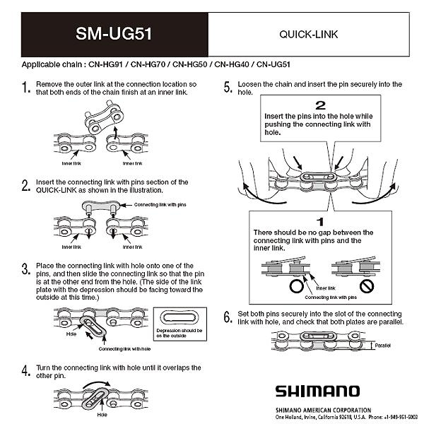 Shimano Kettenschloß SM-UG51