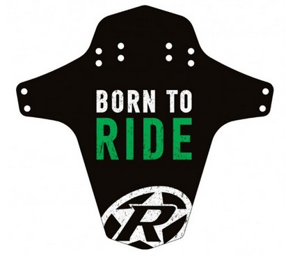 Reverse Mudguard Born to Ride n-green