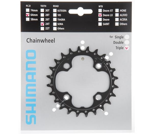 Shimano SLX FC-M660-10 Chainwheels 24 / 32 / 42