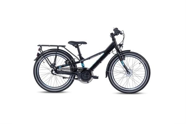 S´COOL troX 20 EVO alloy 3-speed black/cyan matt