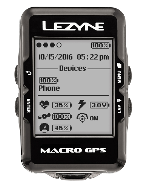 Lezyne bike computer macro GPS with heart rate monitor andspeed cadence sensor black