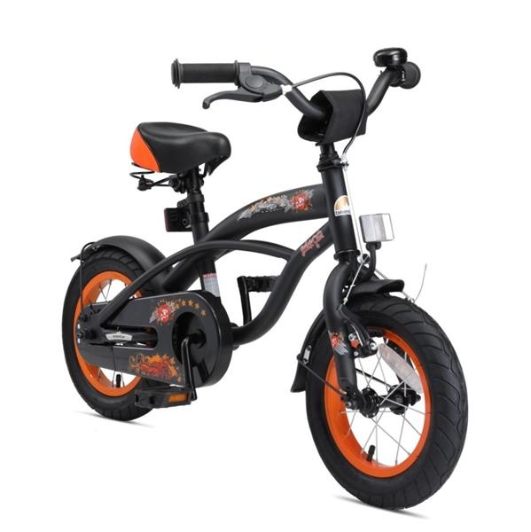 Bikestar Premium Kinderfahrrad Cruiser 12 Zoll teuflisch schwarz matt