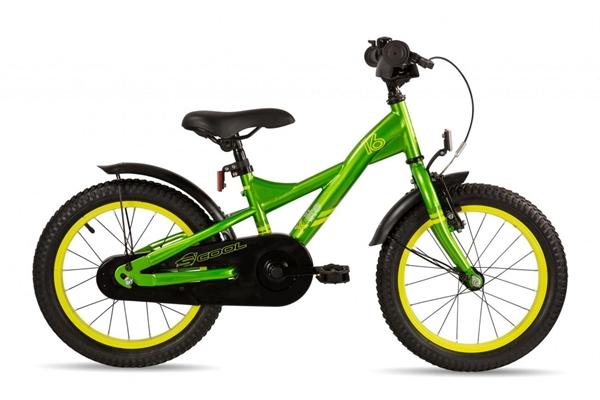 S´COOL XXlite 16 steel 1-speed green/yellow