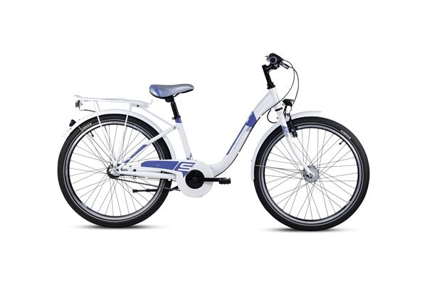 S´COOL chiX 24 steel 3-speed white/violet