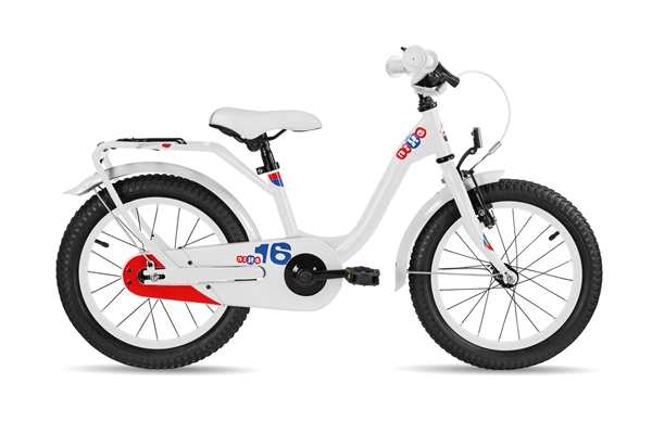 S´COOL niXe 16 steel 1-speed white/blue/red