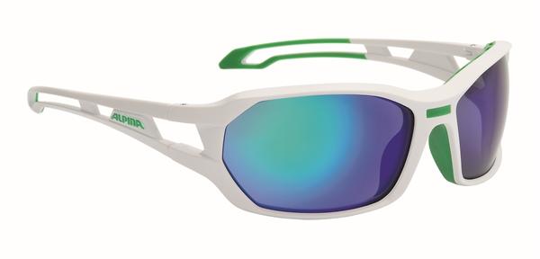 Alpina glasses Berryn white matte green