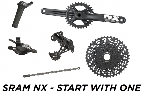 SRAM Komplettgruppe NX 1x11 mit BB30 Kurbel