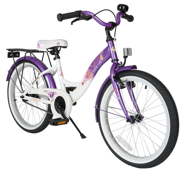 Bikestar Premium Kinderfahrrad Classic 20 Zoll candy lila & diamant weiß