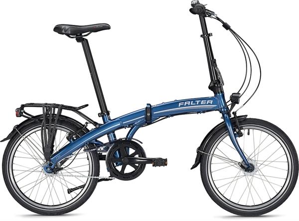 """Falter Folding Bike F 5.0 Deluxe Unisex 20 """"Blue Glossy"""