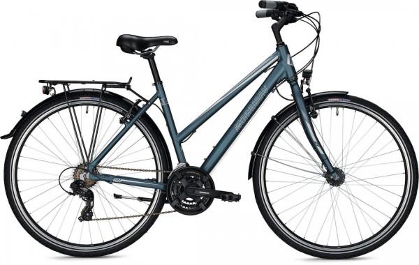 """Morrison Trekkingbike T 1.0 Trapez Damen 28"""" Matt Blau 44 cm"""