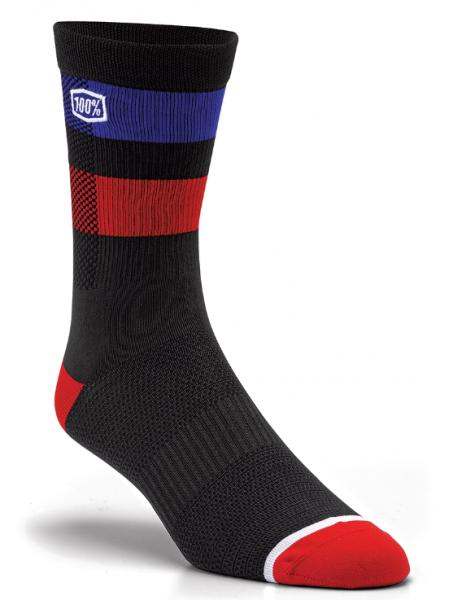 100% Flow socks black