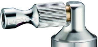 Lezyne CO2 Pumphead Alloy Drive CNC silver shiny