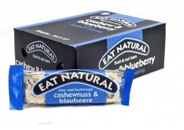 Eat Natural Fruit Bars Cashew & blueberry with yoghurt coating
