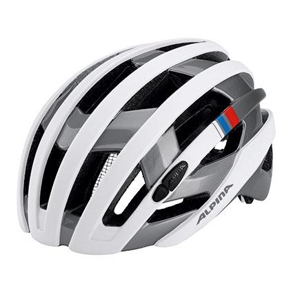 Alpina Campiglio Helm white-silver blue-red
