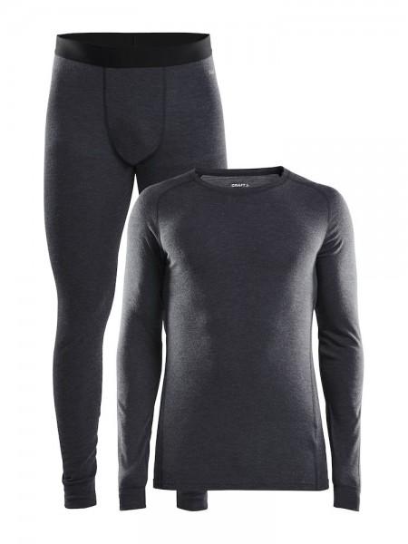 Craft Merino 180 Set black melange