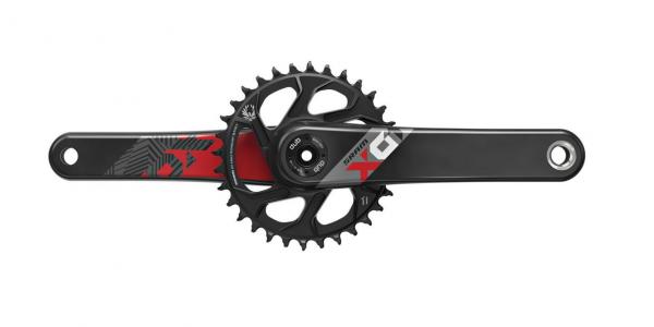 Sram X01 Eagle™ DUB Crank Set - 1x12-speed - 32T DM Boost - black-red #varinfo