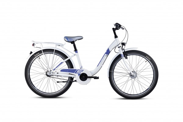 S´COOL chiX 24 steel 3-speed white/violet