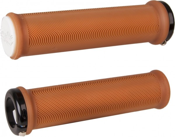 ODI MTB grips Sensus Lite Lock-On 2.1 brown-white / black
