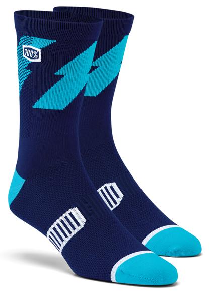 100% Bolt Performance socks navy
