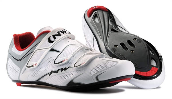 Northwave Sonic SRS shoe white / rot