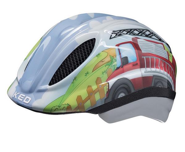 KED Meggy II Trend Kinder Helm fire truck