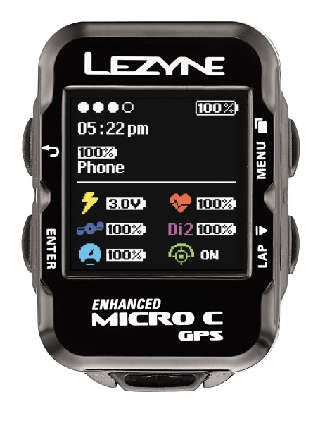 Lezyne bike computer micro color GPS with heart rate monitor black