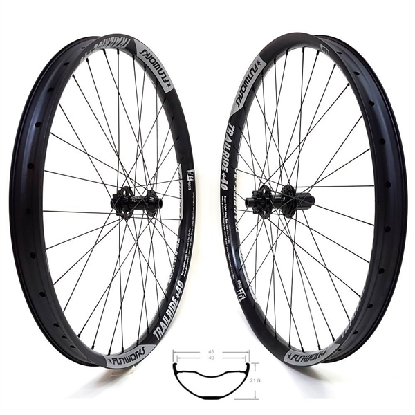 Fun Works N-Light Boost 48T Trailride+40 Comp Race Wheelset 29er 1980g