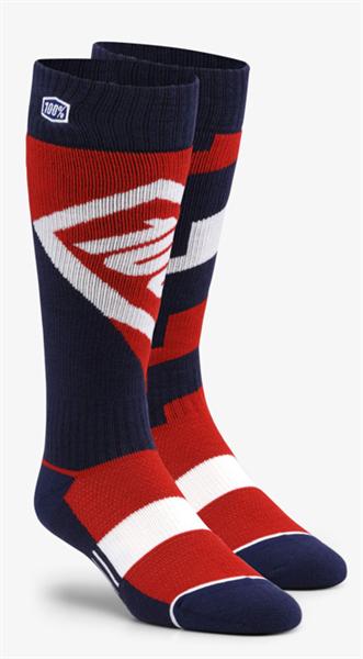 100% Torque comfort moto socks rot