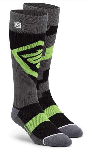 100% Torque comfort moto socks lime
