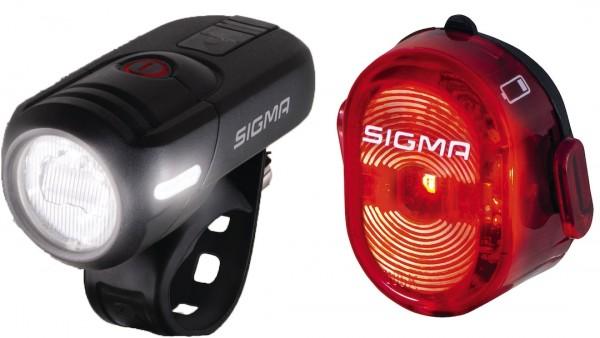 Sigma Beleuchtungsset Aura 45 USB + Nugget II USB mit StVZO-Zulassung